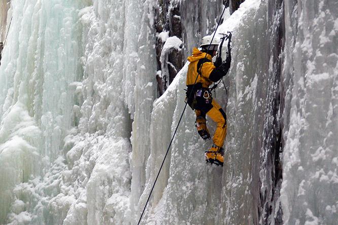 New Hampshire Flume Gorge Ice Climber