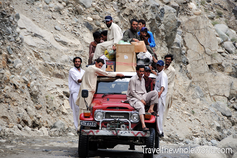Pakistan Road Trip Packed Jeep