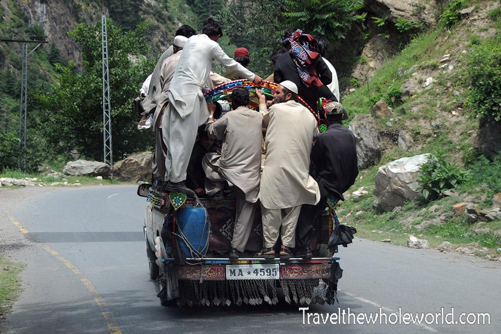 Karakoram Highway Packed Jeep
