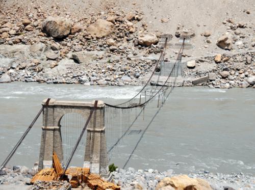 Pakistan Indus River Bridge