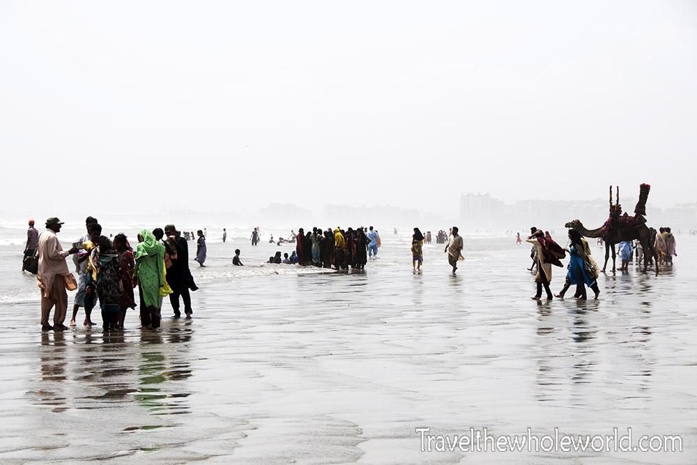 Pakistan Karachi Beach Clifton
