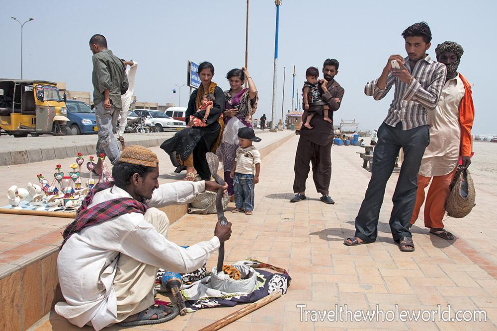 Pakistan Karachi Beach Clinton Cobra