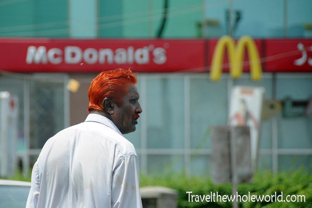 Pakistan Karachi Man Dyed Hair