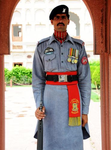 Pakistan Lahore Badshahi Mosque Guard