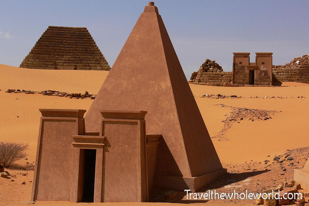Sudan Meroe Pyramid Reconstructed
