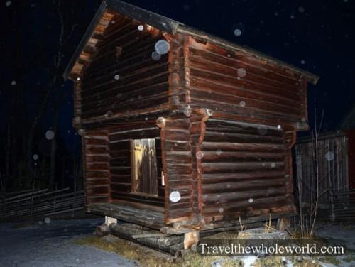 Sweden Ostersund Jamtli Museum Cabin