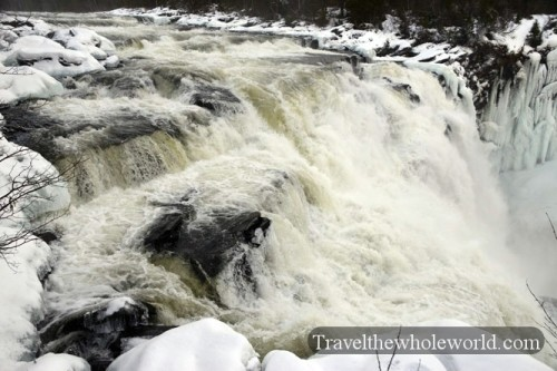 Sweden Tannforsen Waterfall