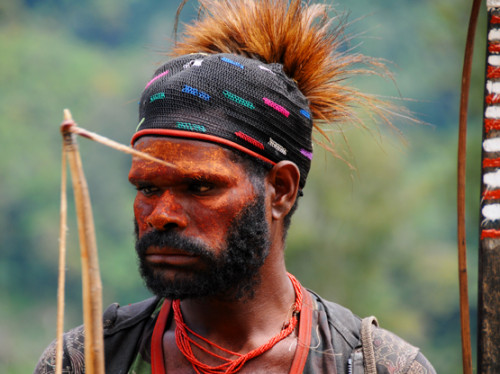 West Papua Sugapa Tribal Man