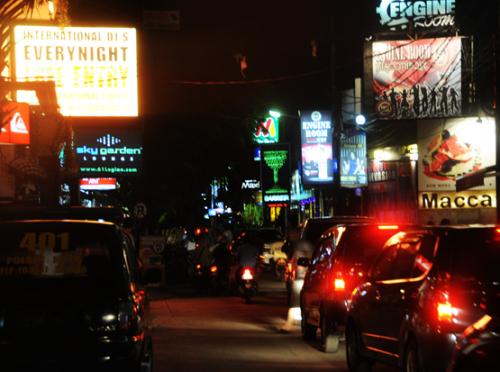 Indonesia Bali Downtown Night