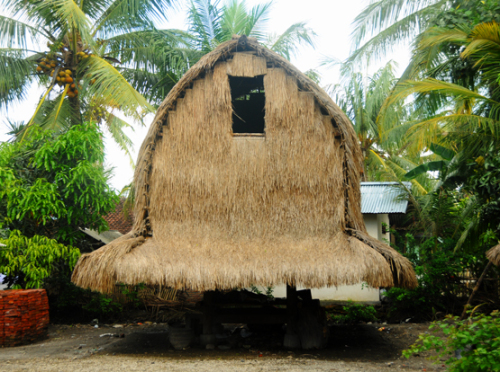 Indonesia Lombok Village Hut