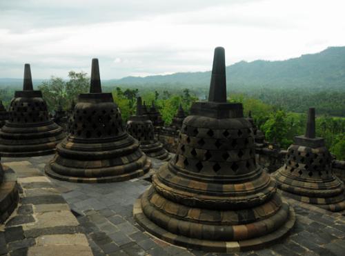 Indonesia Yogyakarta Borobudur Pagodas