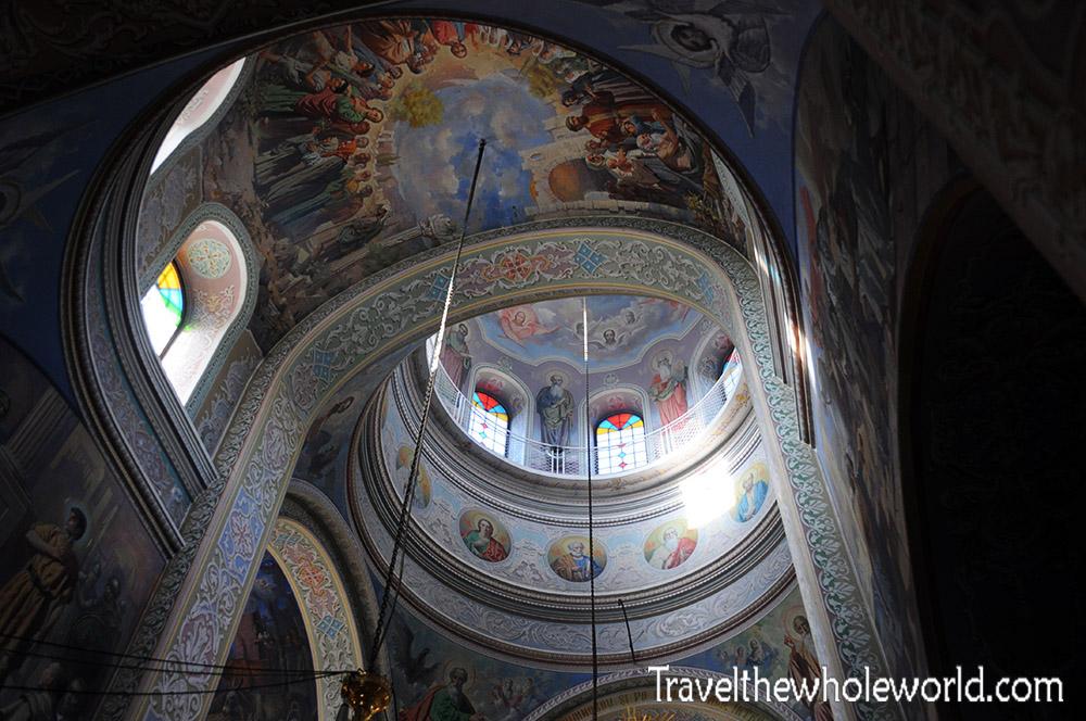 Moldova Capriana Monastery Ceiling