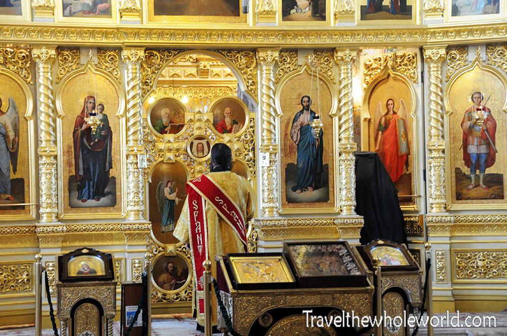 Moldova Capriana Monastery Inside