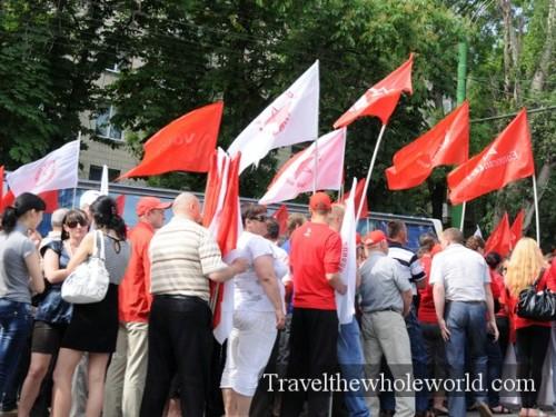 Moldova Chisniau Communist Supporters