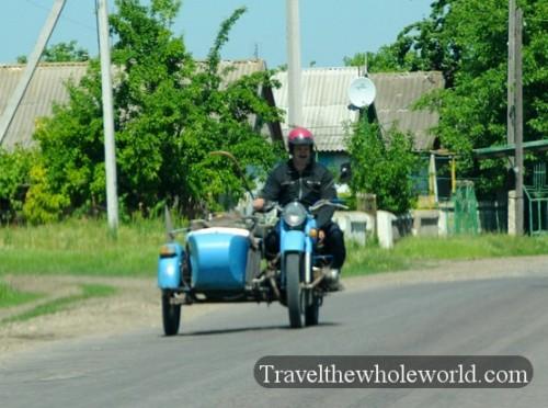 Moldova Old Fashioned Motorcycle