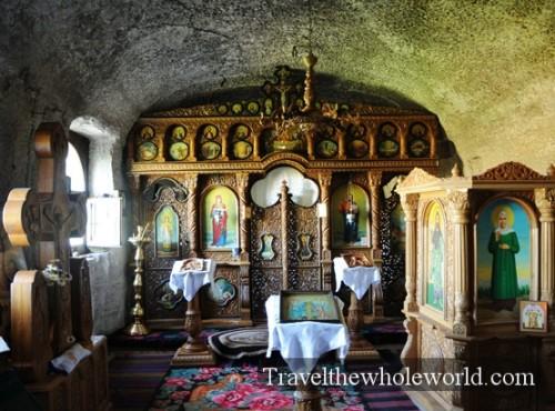Moldova Orheiul Vechi Monastery Cave