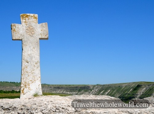 Moldova Orheiul Vechi Monastery Cross