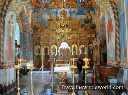 Moldova Orheiul Vechi Monastery Inside