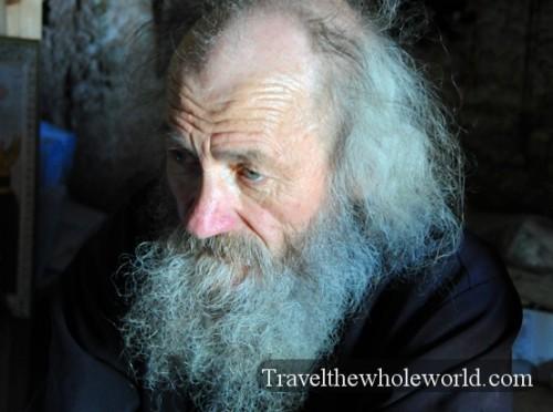 Moldova Orheiul Vechi Monastery Priest