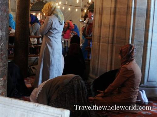 Turkey Istanbul Blue Mosque Prayer