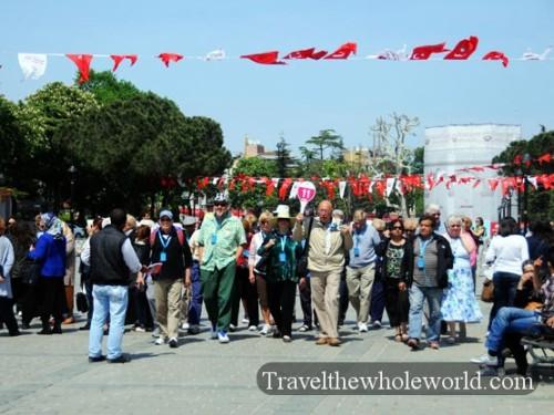 Turkey Istanbul Tourists