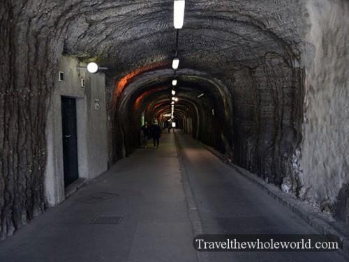 Austria Salzburg Monchsberg Tunnel