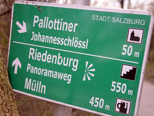 Monchsberg Trail Sign