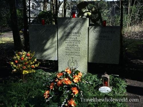Germany Munich Cemetery Waldfriedhof