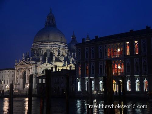 Venice Basilica Di Santa Maria Della Salute Night
