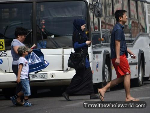 Kazakhstan Astana Suburbs People