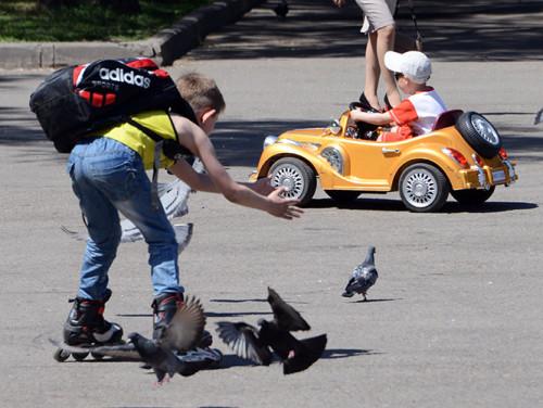 Kazakhstan Almaty Panfilov Park Kids