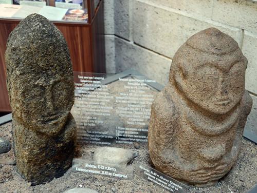 Kazakhstan Almaty Stone Statues
