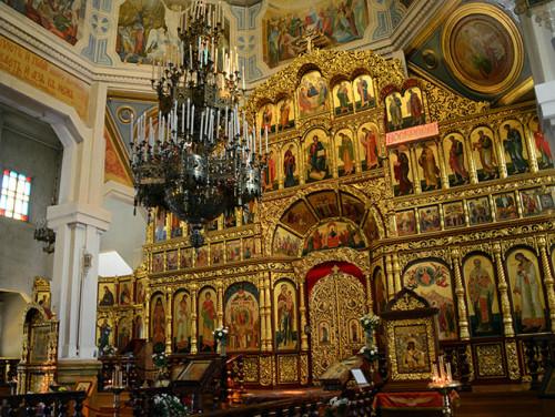 Kazakhstan Almaty Zenkov Cathedral Inside