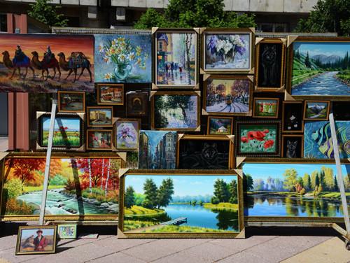 Kazakhstan Almaty Zhibek Zholy Paintings