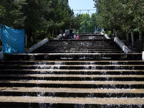 Kyrgyzstan Osh Amusement Park Water Steps