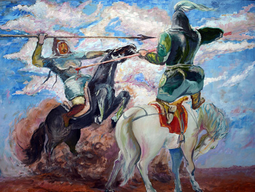 Kyrgyzstan Osh Art Museum Genghis Khan