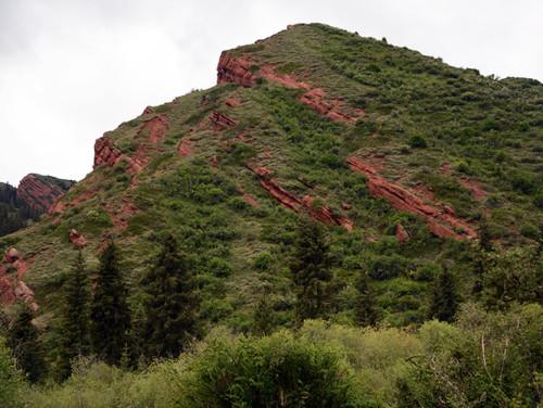 Kyrgyzstan Red Mountains