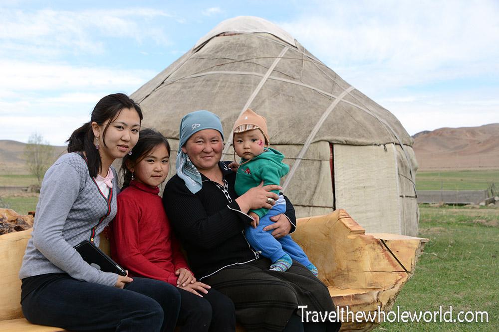 Kyrgyzstan Yurt Family