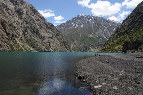 Tajikistan Fan Mountains Lake Seventh
