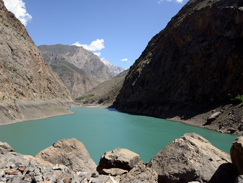 Tajikistan Fan Mountains Lake Third