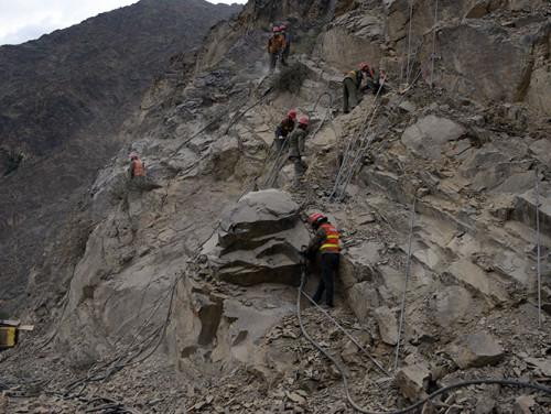 Tajikistan Highway Chinese Workers
