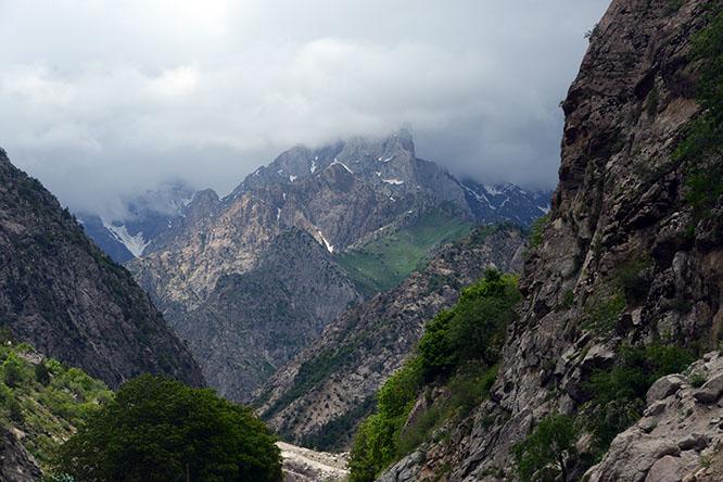Tajikistan Highway Mountains