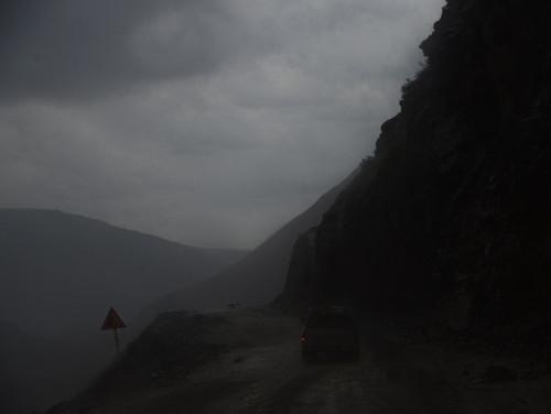 Tajikistan Highway Rain