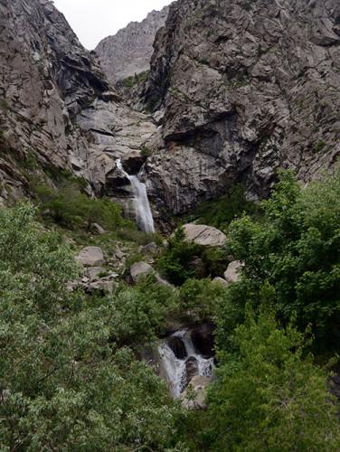 Tajikistan Highway Waterfall