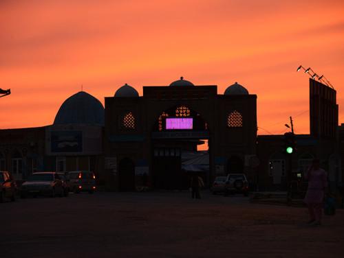 Tajikistan-Panjakent Market Entrance