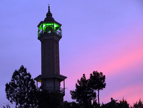 Tajikistan Panjakent Mosque Minaret