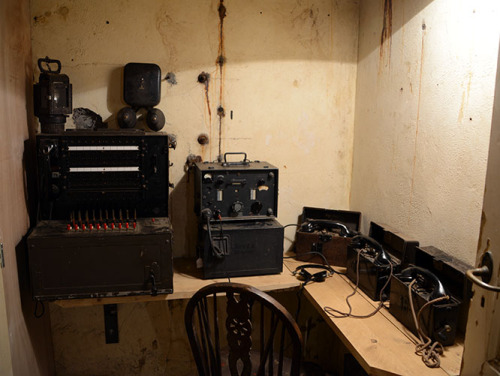 Netherlands The Hague Atlantikwall WWII Bunker Communication
