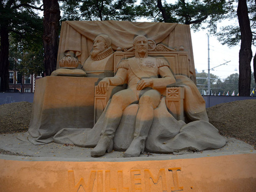 Sand Sculpture King of the Netherlands