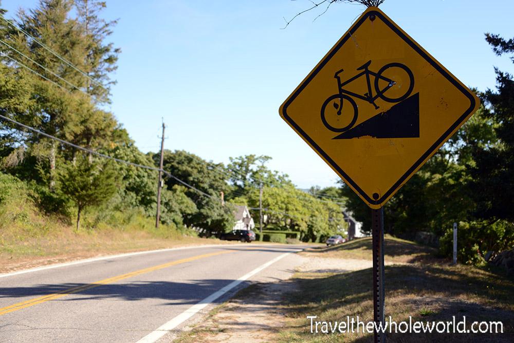 Rhode Island Block Island Bike Warning