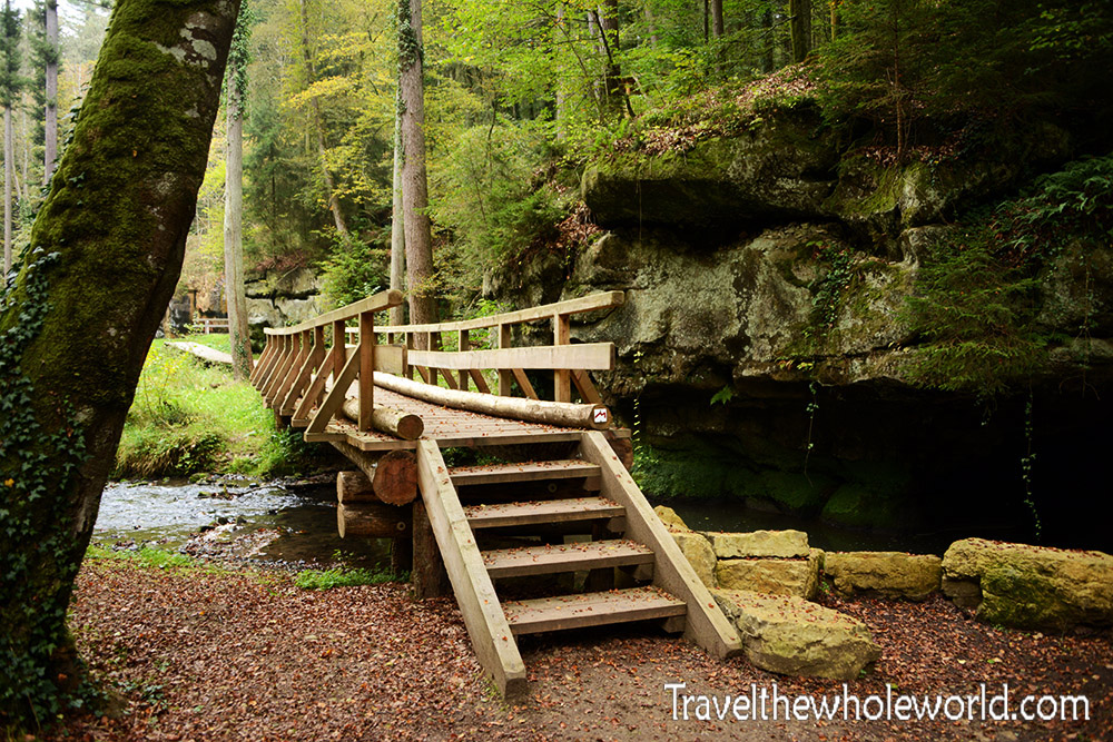 Luxembourg Mullerthal Foot Bridge